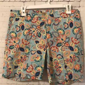 Paisley/Flower print turquoise shorts!